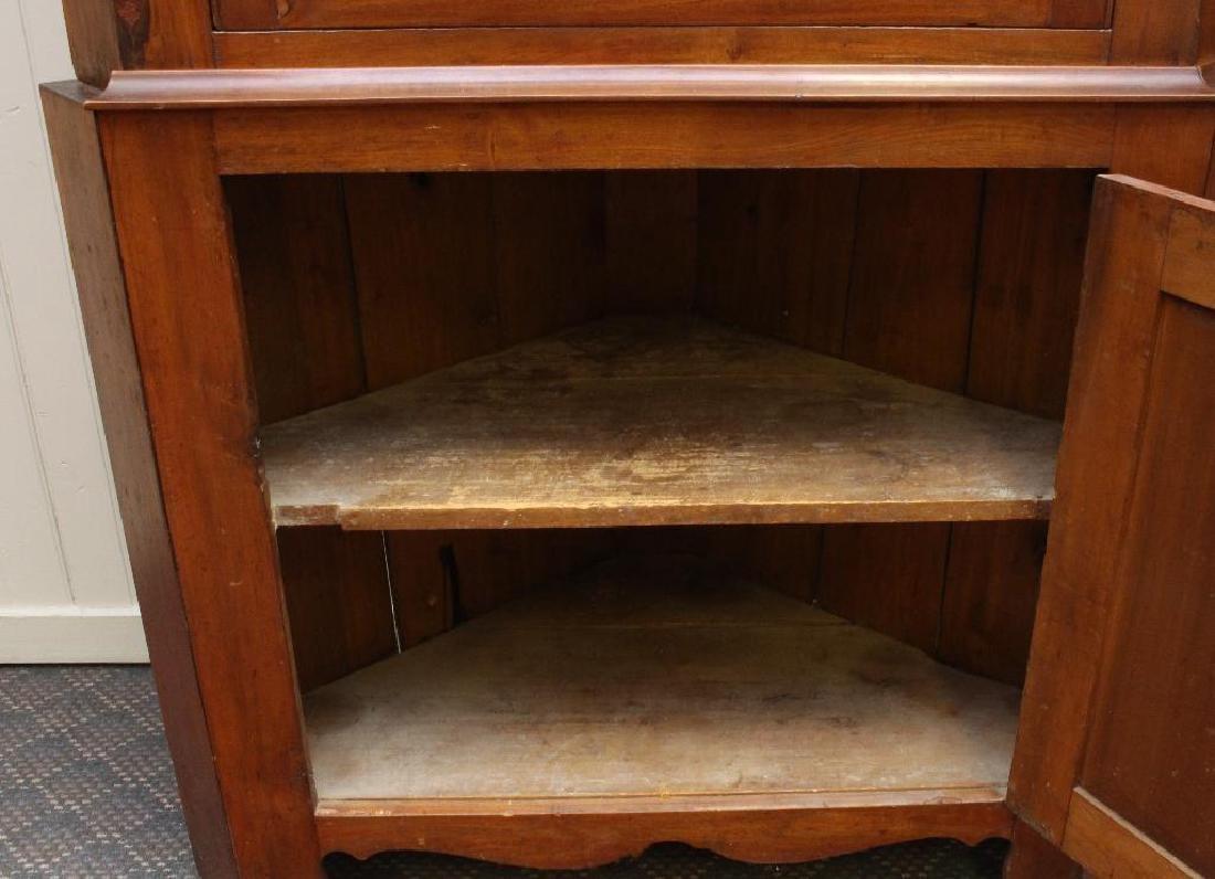 Pennsylvania Cherrywood Corner Cupboard - 4