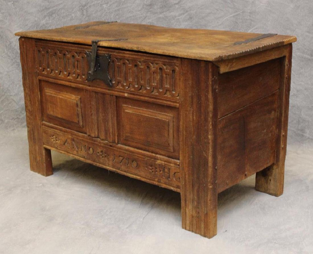 Oak Dower Chest - 6
