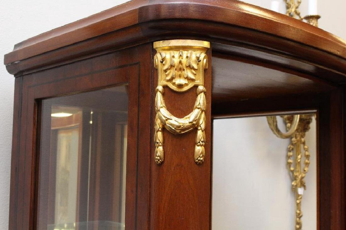 Mahogany Ormolu Mounted Display Cabinet - 4