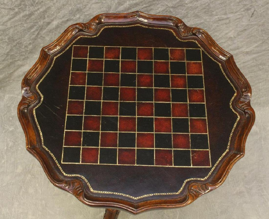 Carved Mahogany Games Table - 2