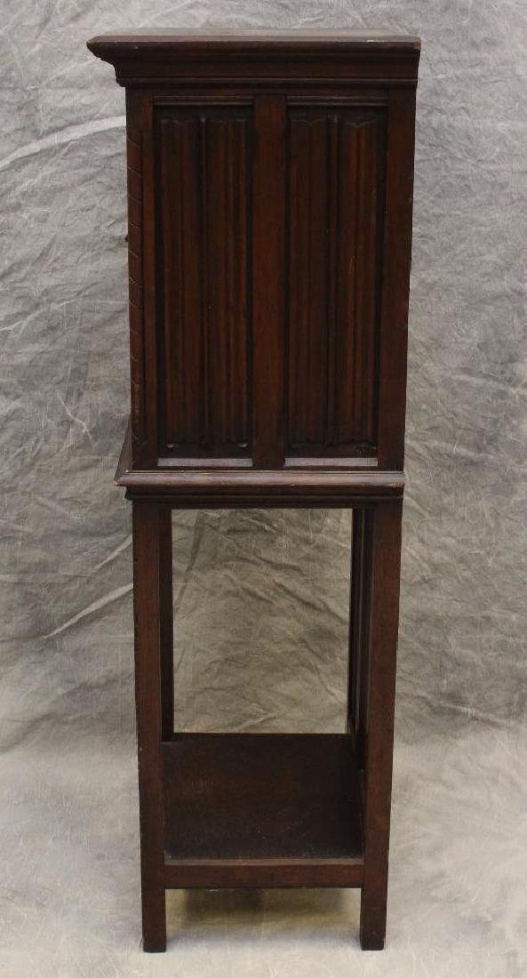 Carved Oak Reliquary Cabinet - 3