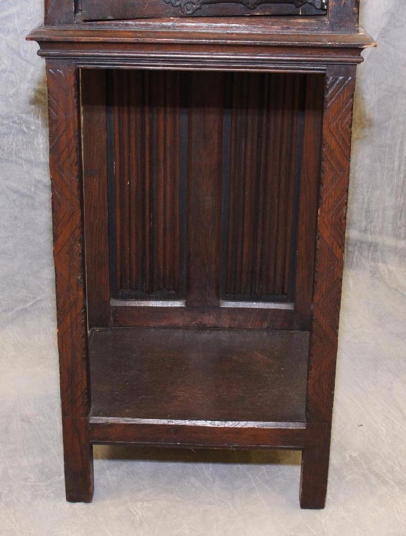 Carved Oak Reliquary Cabinet - 5