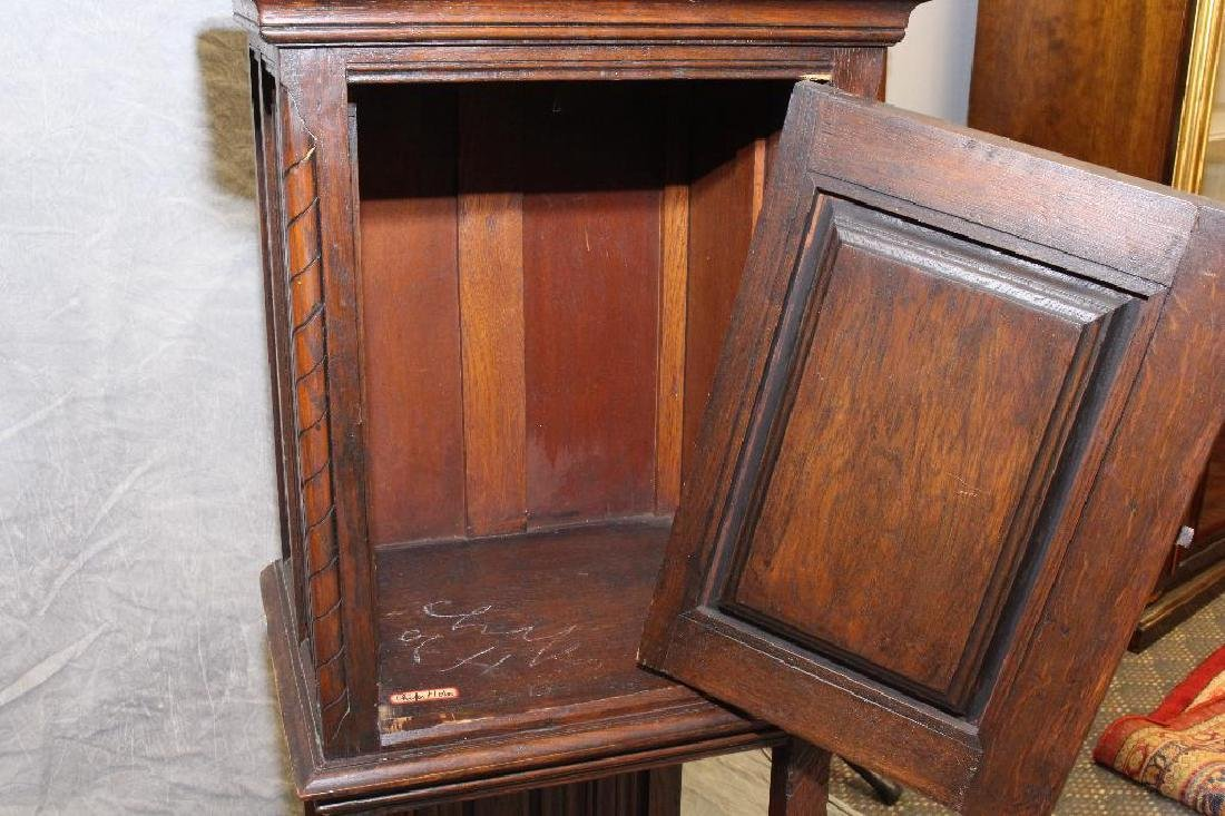Carved Oak Reliquary Cabinet - 6