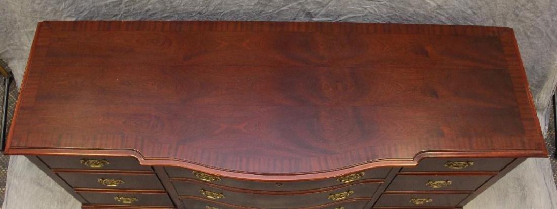 Mahogany Serpentine Front Dresser - 2