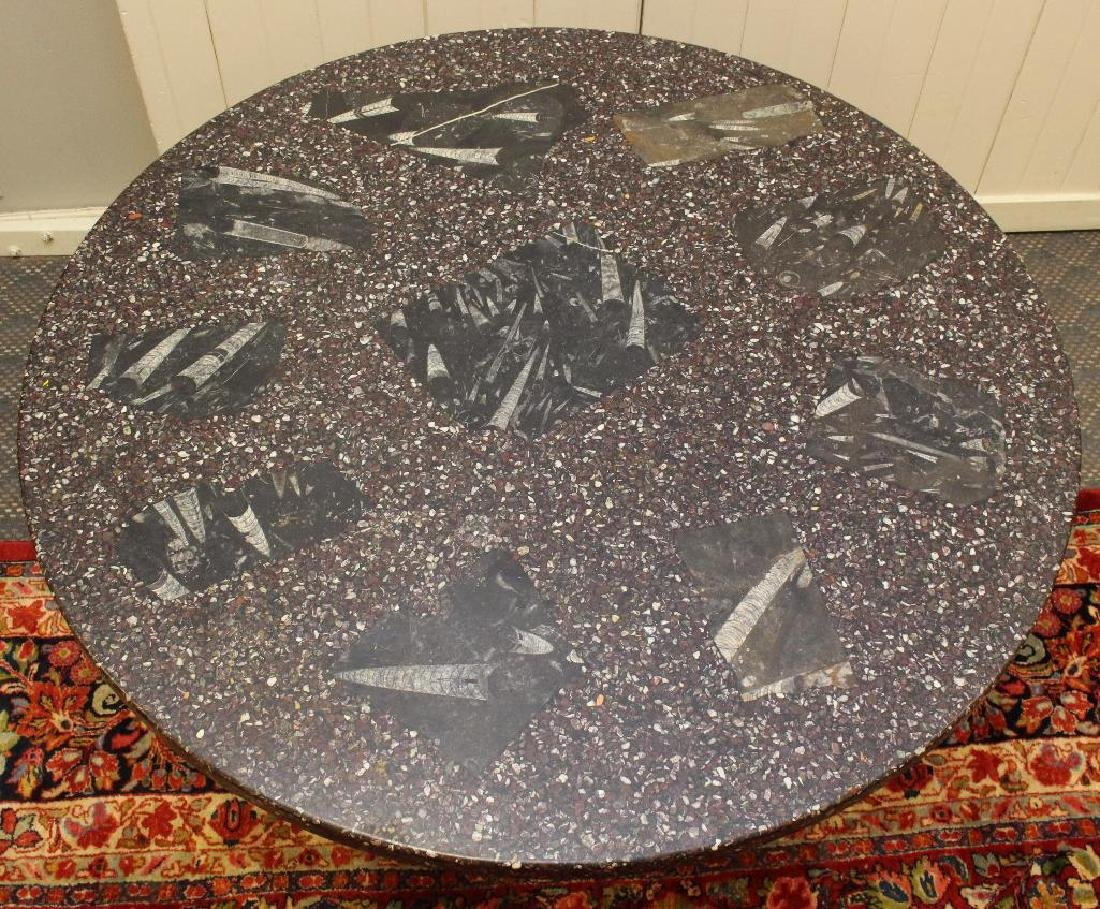 Granite and Lucite Center Table - 2