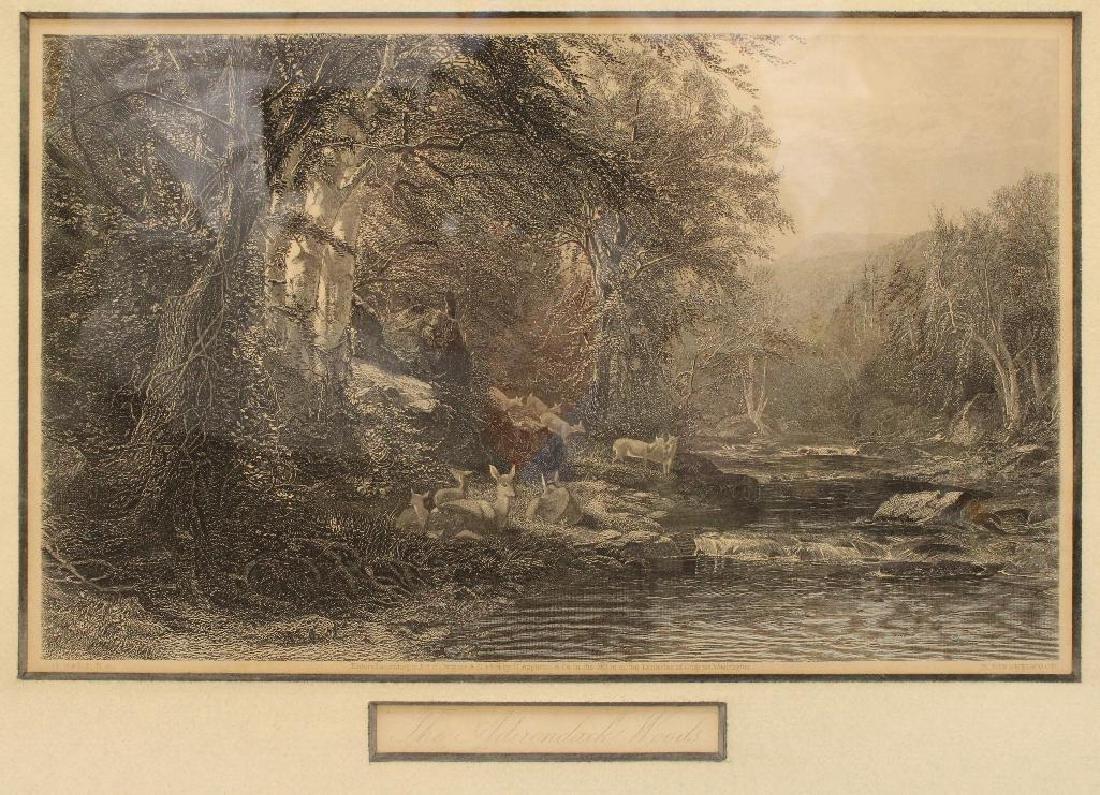 Pair of Woodland Etchings - 2