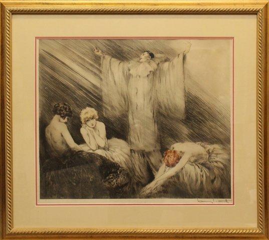 """Louis Icart (1888-1950) """"Poem"""""""