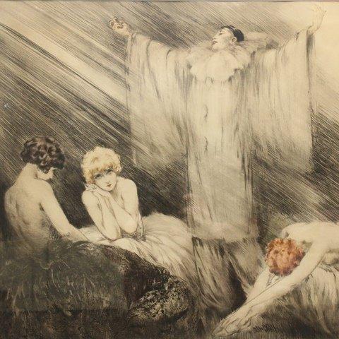 """Louis Icart (1888-1950) """"Poem"""" - 2"""