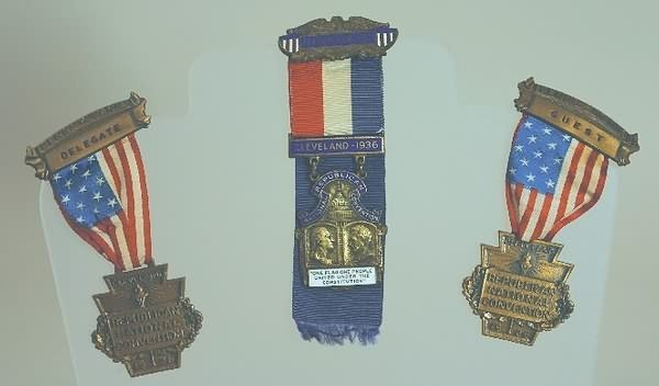3003: Republican National Convention Badges-1936.