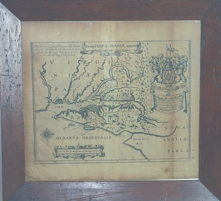 3016: Map of Maryland-17th century.