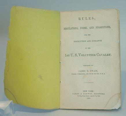 3020: Rare Civil War Manual.