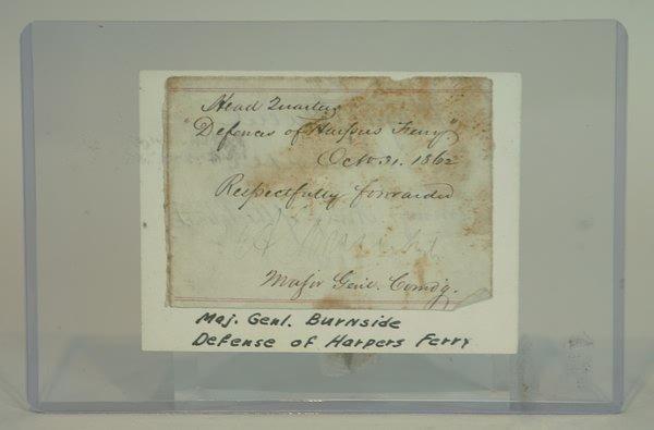 3021: Autograph of General Ambrose Burnside.