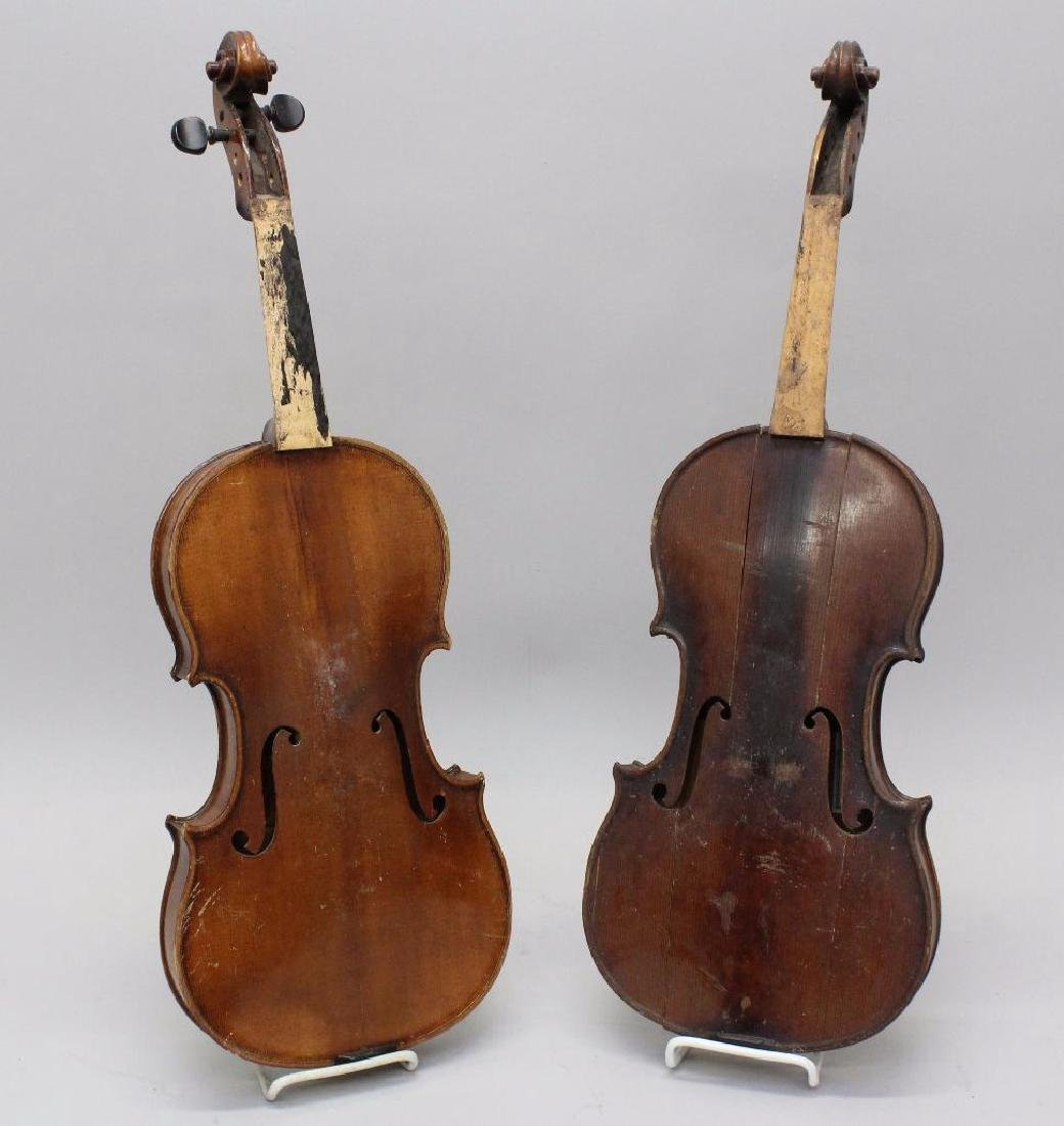 Pair of Labeled Violins