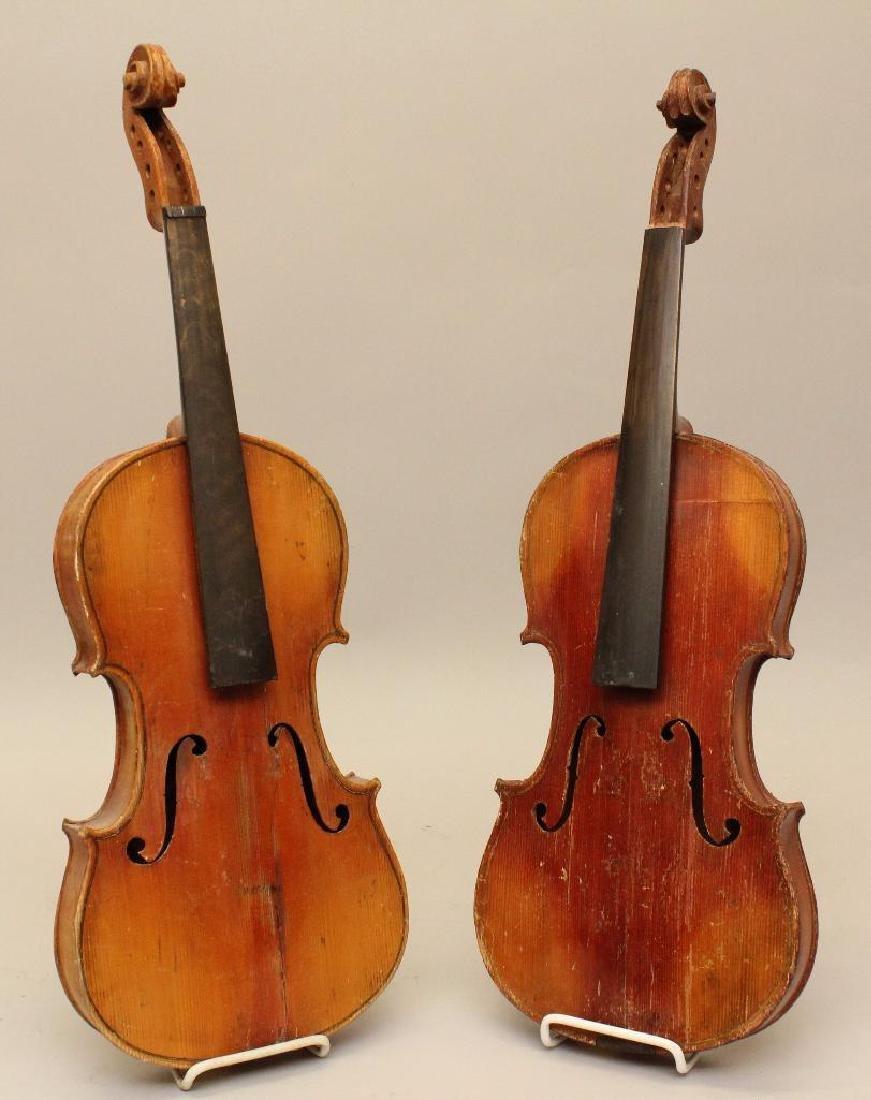 Pair of Unlabled Violins