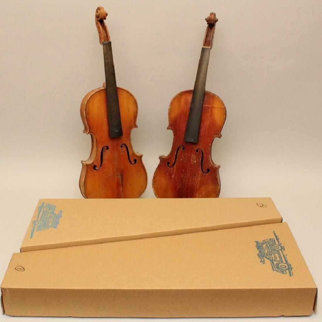 Pair of Unlabled Violins - 8