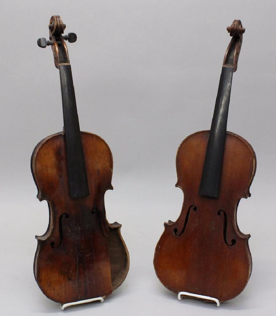 Pair of Unlabeled Violins