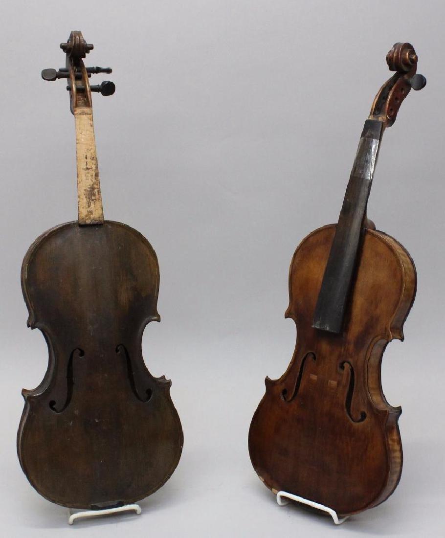 Pair of Unlabeled Violins
