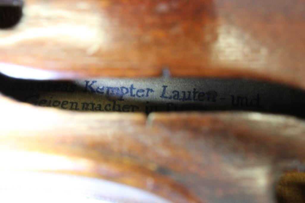 Lauten and Geigenmacher Saxon Violin - 4