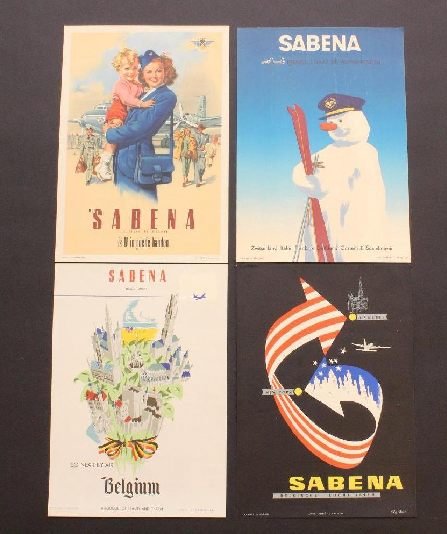 Sabena Airlines Travel Posters