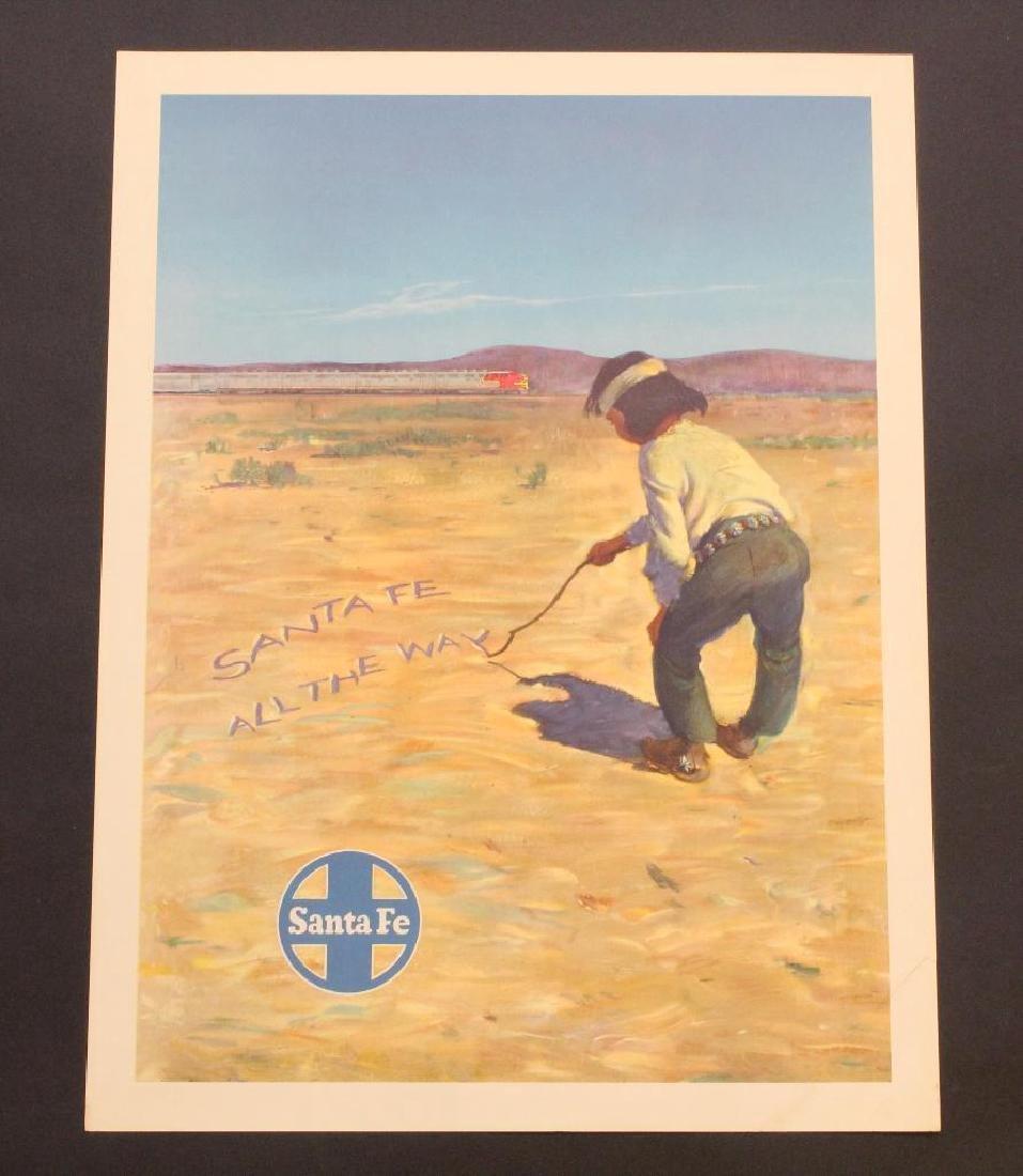 Santa Fe Railroad Travel Poster