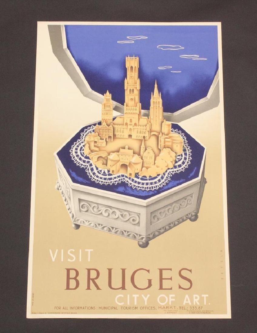 Belgian Travel Poster - City of Bruges