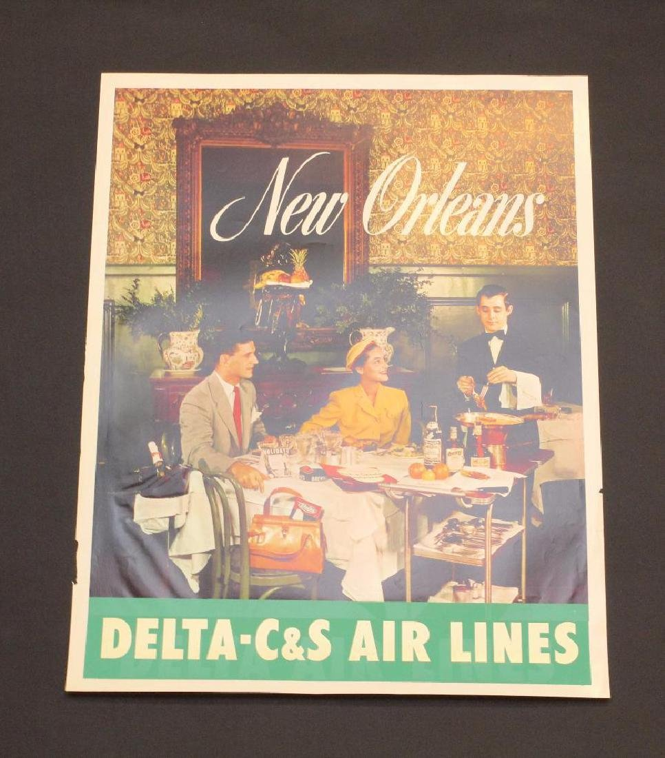 Delta Airlines - New Orleans Travel Poster