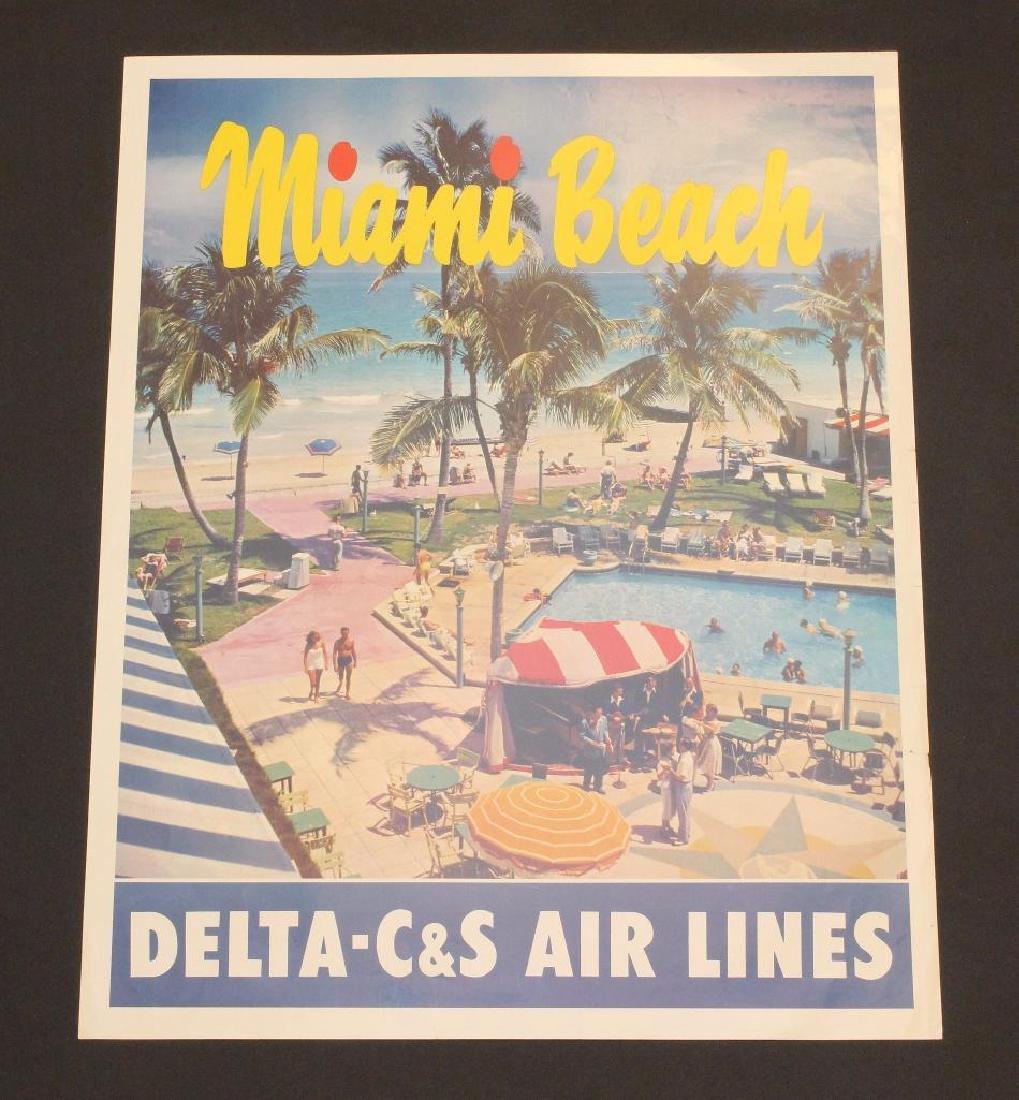 Delta Airlines - Miami Beach Travel Poster
