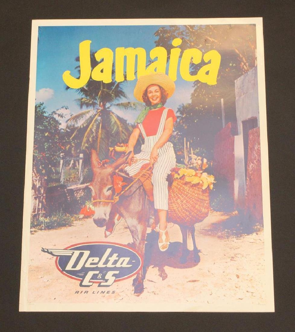Delta Airlines - Jamaica Travel Poster