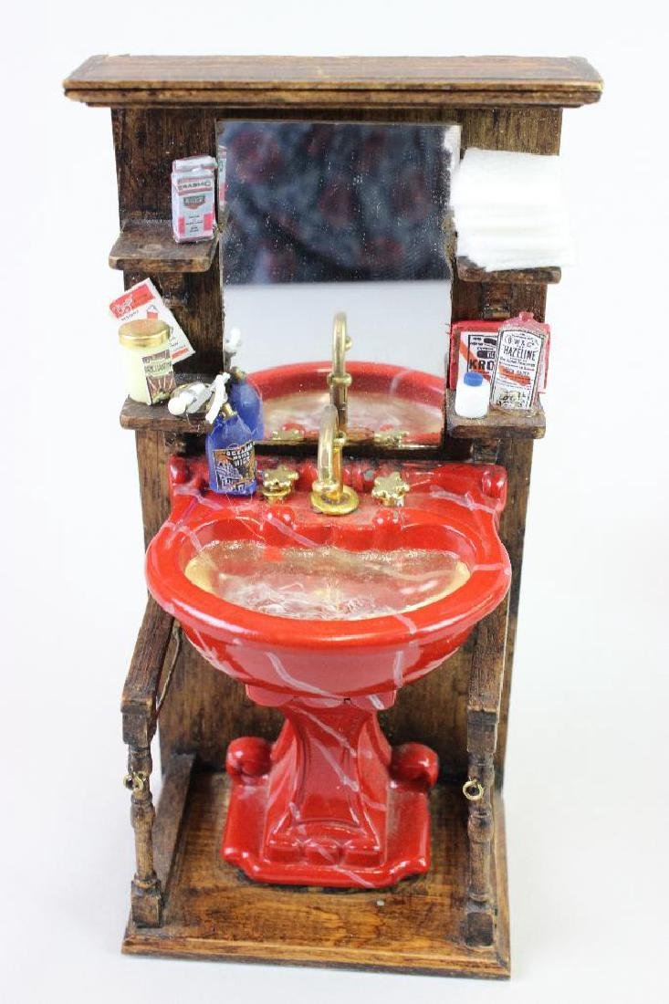 Barber shop wash stand, chair and side table - 3