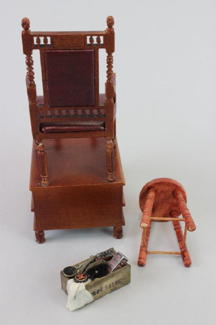 Shoeshine chair, stool and box - 2