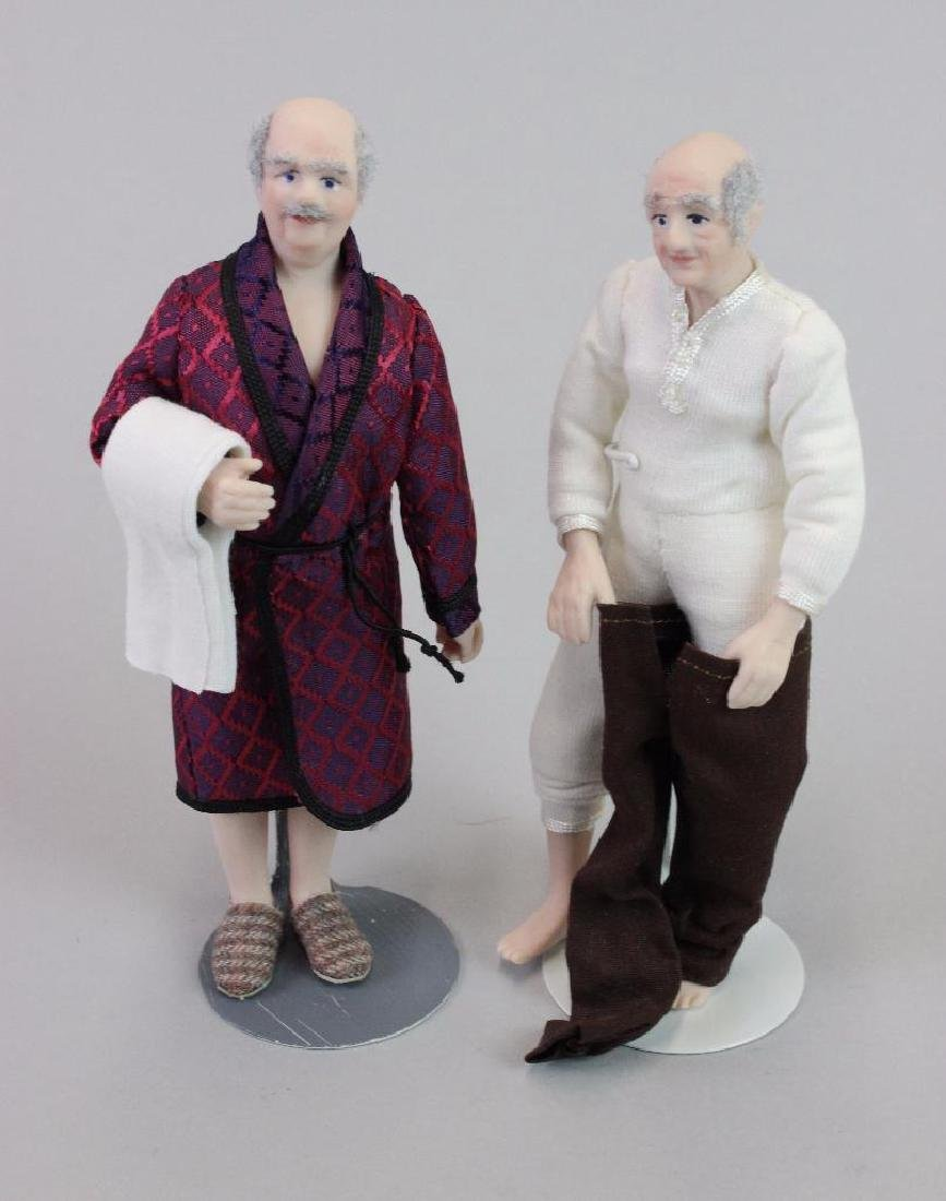 Man doll in robe and Man dressing