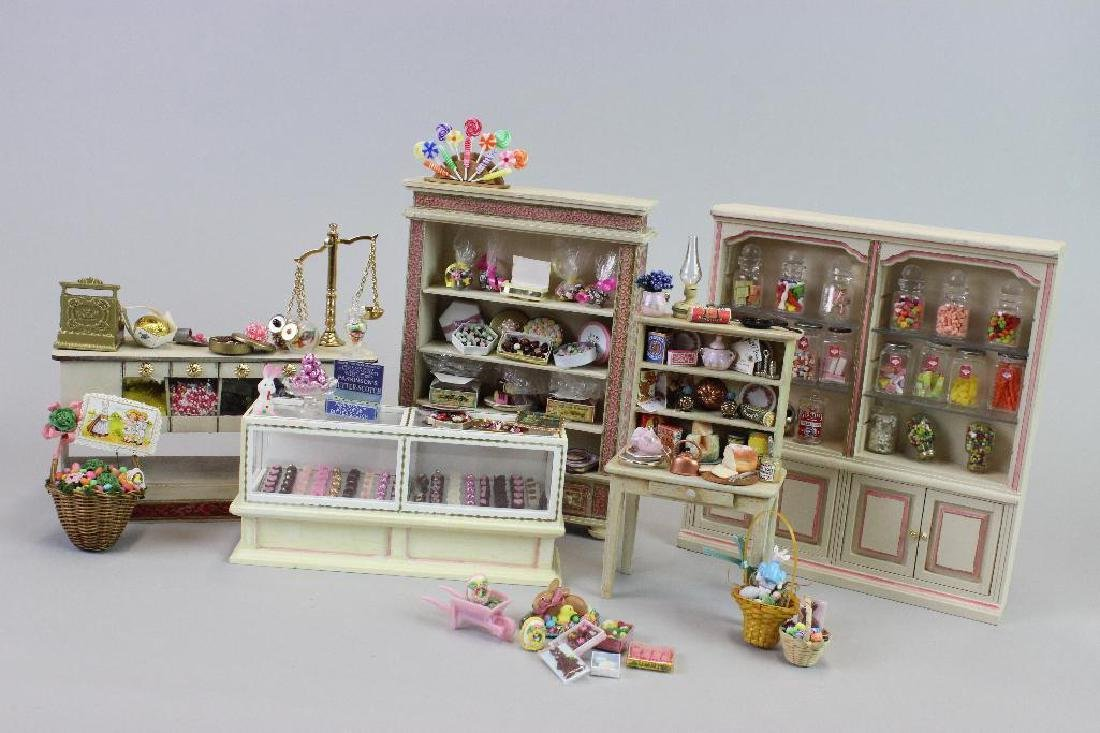 Kitchen cupboard; Easter candy; Candy display cabinets