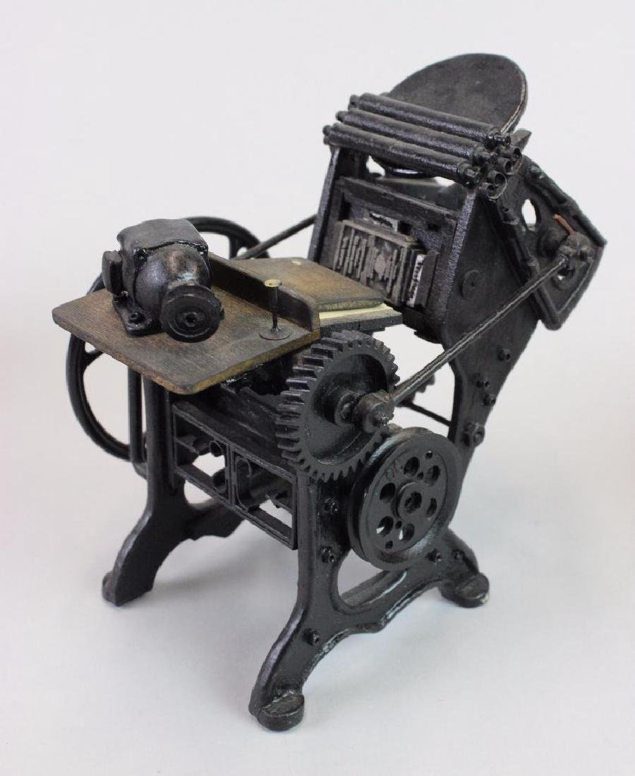 Printing press, type cabinet setting table w/ ink tools - 3