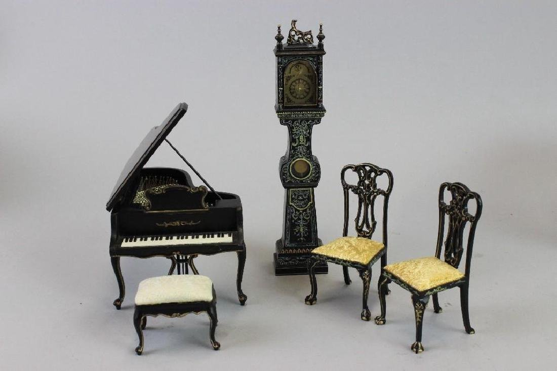 Dance Studio - Piano, stool, chairs Bespaq  Clock