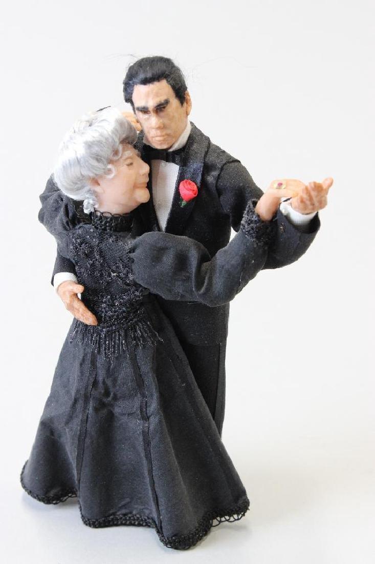 Elderly lady and Tango instructor