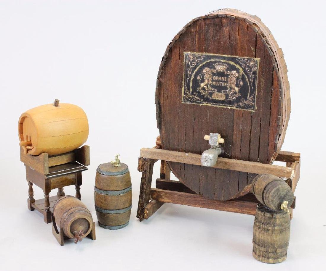 Wine and Spirits Shop -display case crates barrels cask - 3