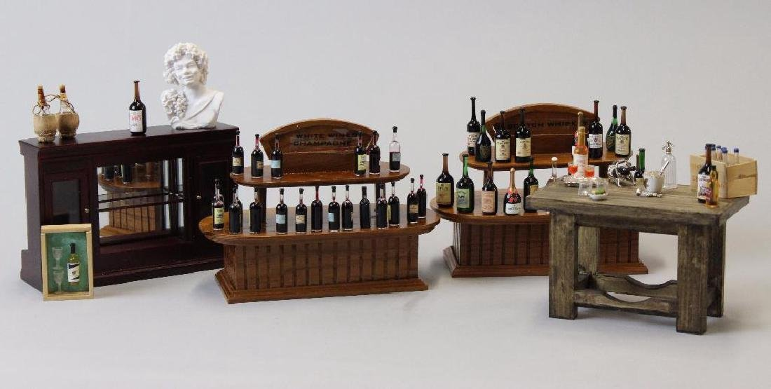 Wine and Spirits Shop- Taster counters; wine bottles