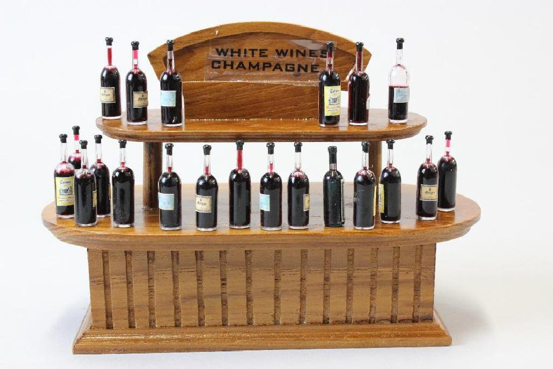 Wine and Spirits Shop- Taster counters; wine bottles - 4