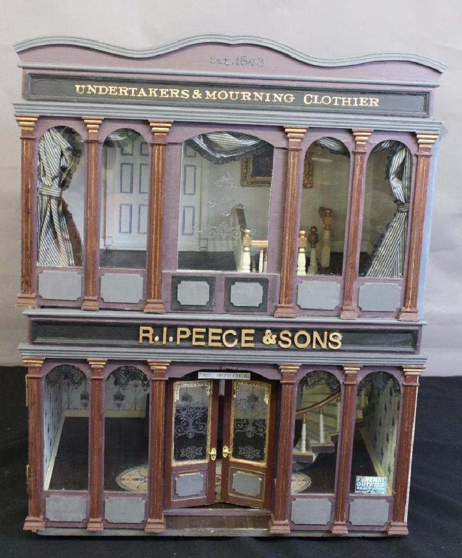 R.I. Peece Undertakers and Mourning Clothiers Dollhouse