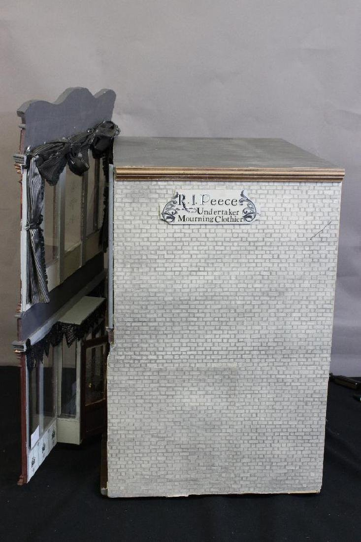 R.I. Peece Undertakers and Mourning Clothiers Dollhouse - 5