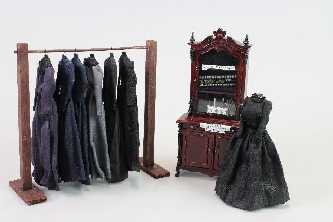 Mourning dresses, dress stand and Mannequin