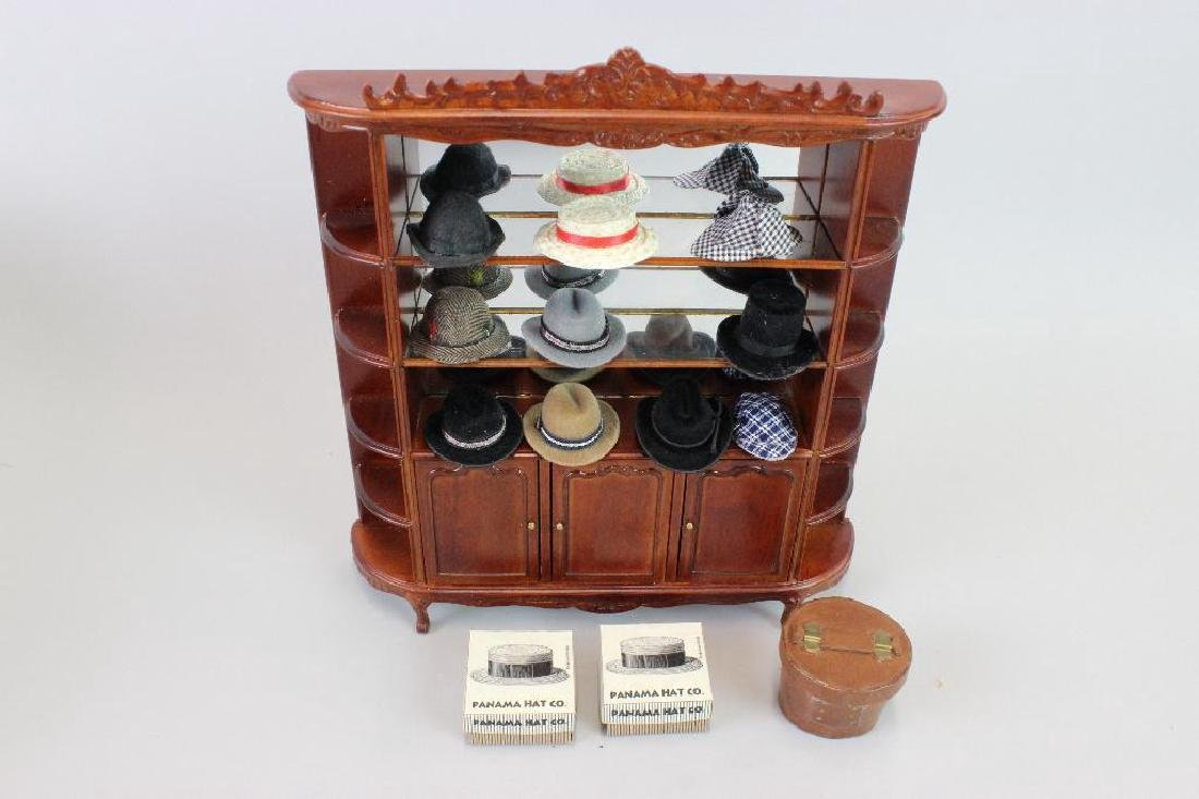 Sales counter and Back display Jiayi, 6 boxes of hats