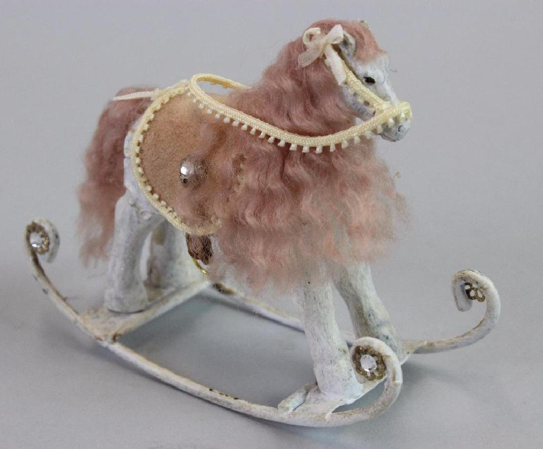 Rocking horse and Lamb pull toy and baby china set - 2