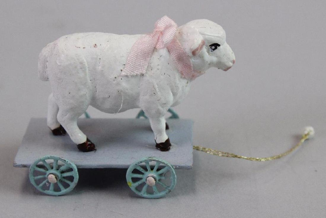 Rocking horse and Lamb pull toy and baby china set - 3