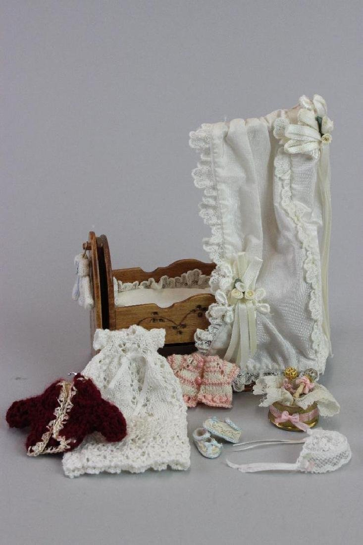 Christening dress, bed, Knitted items, rattle, sweater