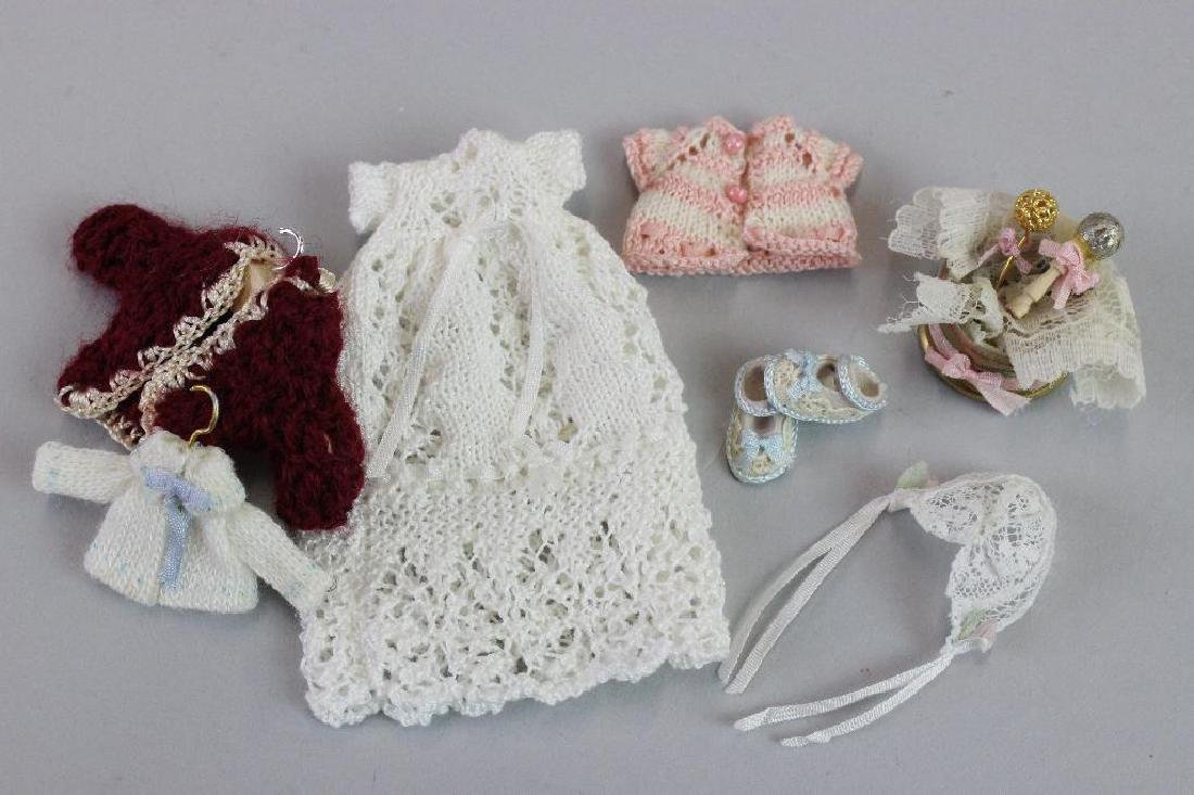 Christening dress, bed, Knitted items, rattle, sweater - 2