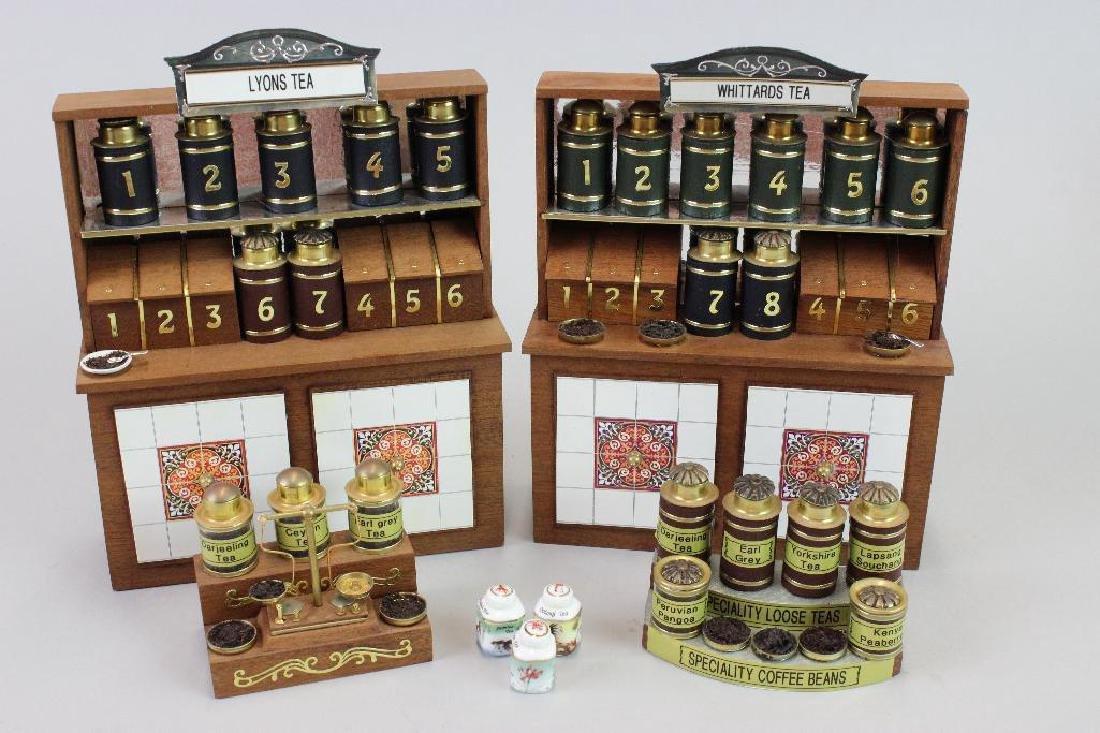 2 tea displays and 1 coffee display - custom