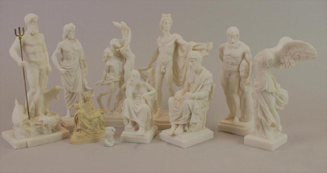 Plaster statues for Museum (never built) - 2