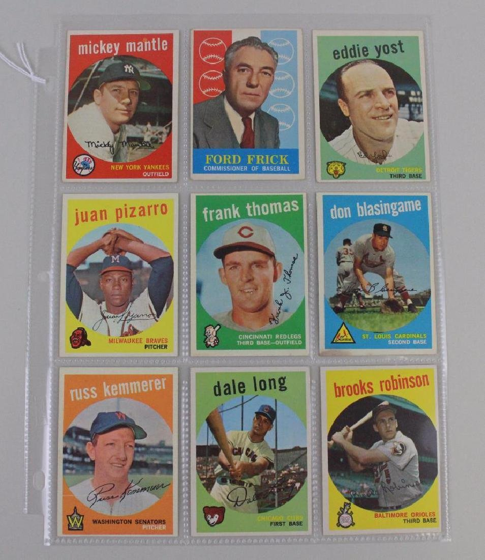 PLAYERS BOTH LEAGUES & COMMISSIONER 1959