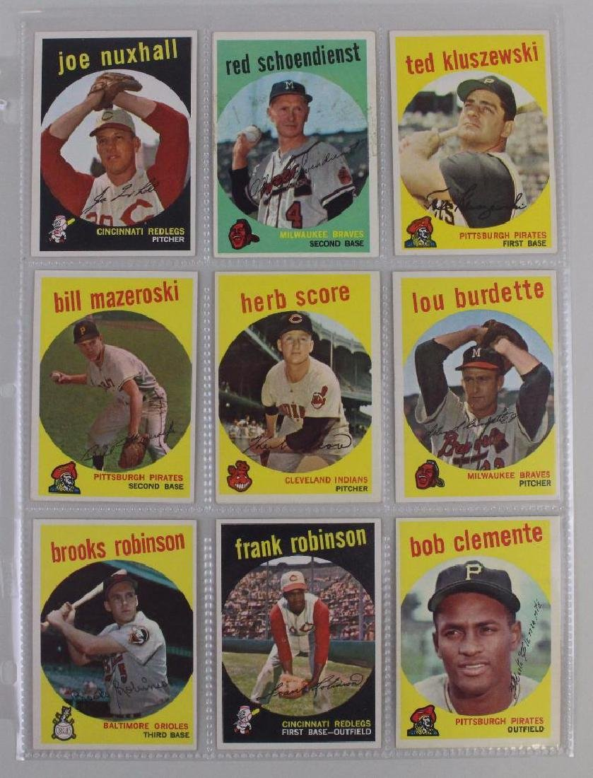 PLAYERS FROM BOTH LEAGUES 1959 - LOT OF 9 CARDS